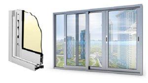 Раздвижные алюминиевые балконные рамы